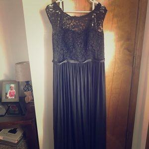 Black David's Bridal Bridesmaid Dress